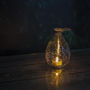 Crack Ball Garden Solar Lantern with Solar Tea Light