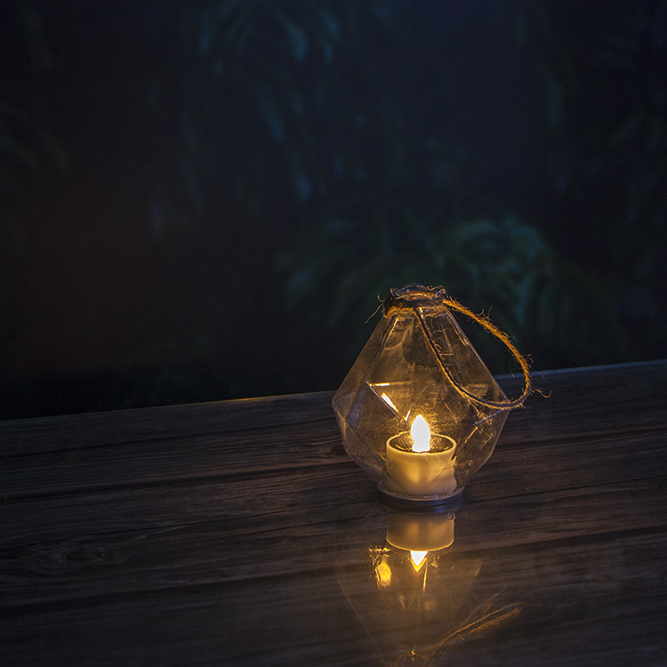 Glass Solar Lantern Outdoor for Hanging Decoration Featured Image