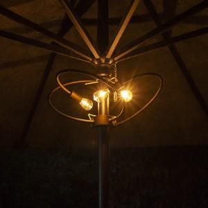 Patio Umbrellas with Solar Lights for Garden Decoration