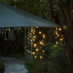Solar Umbrella Lights Outdoor for Garden Decor
