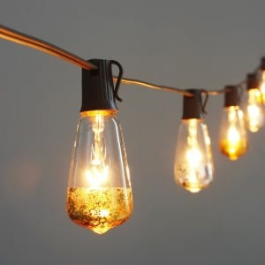 Decorative LED Edison Lights String with Dipped Gold