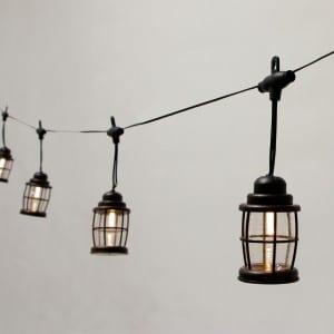 Black Lantern Cover LED Umbrella Lights Decoration KF09060-SO