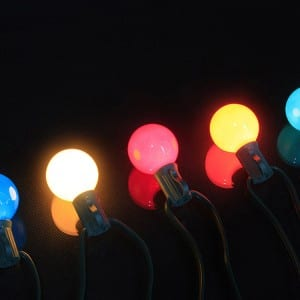 Multicolor Globe String Lights G40 Painted Blubs