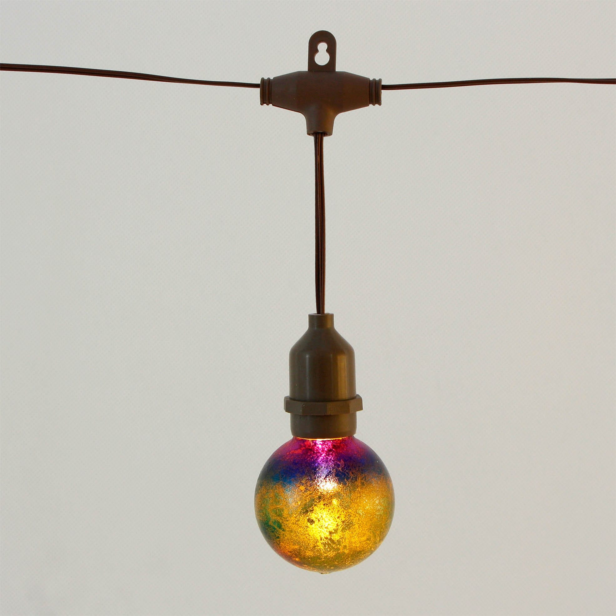 Iridescence Glass Umbrella String Lights Solar KF09063-SO Featured Image