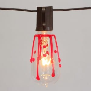 Hanging Bulb String Lights ST40 Halloween Blood Drop Style