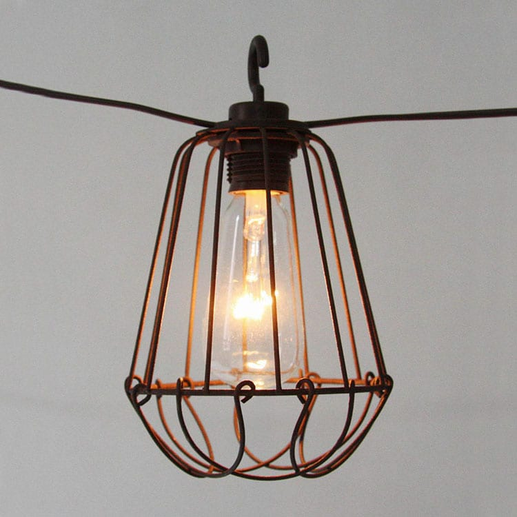 Corrugated Color Coated Steel Strip Retro Garden String Lights -