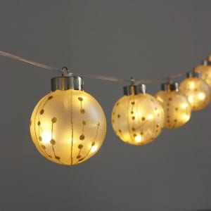 Plastic Gold Glitter Painting G65 Bulb String Light