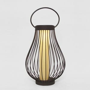 Solar Metal Lantern Outdoor Garden Decor