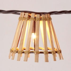 Steel Coil Cafe Lights - Wood Bamboo Covers  MYHH01357 – Zhongxin