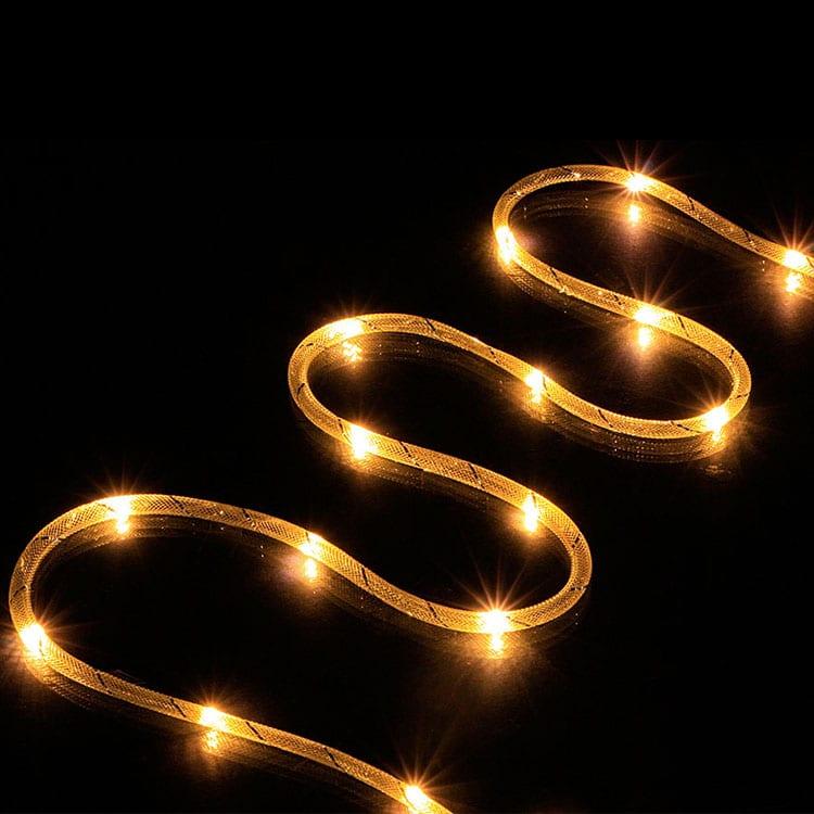 Christmas Micro Mini LED Rope Light Fabric Mesh Style KF67381 Featured Image