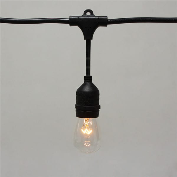 Galvanized Coil Edison Bulb String Lights -