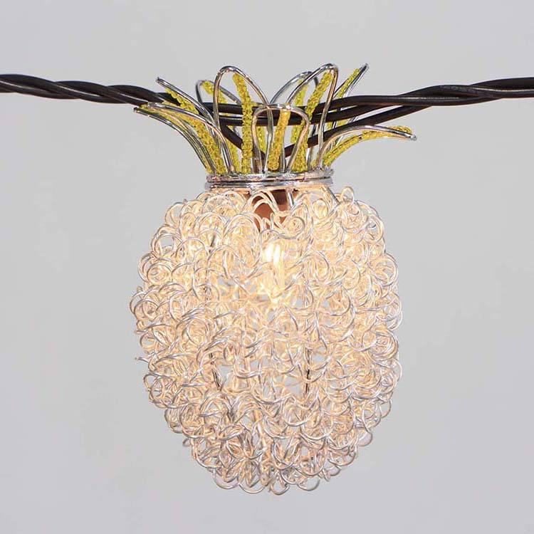 Corrugated Galvalume Steel Bistro Lights -