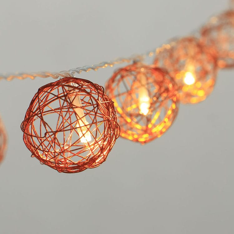 Color Coated Steel Plate Lanterns Battery Powered -