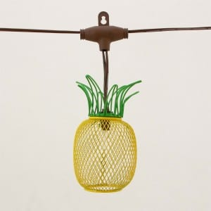 Solar Umbrella String Lights with Wire Pineapple KF09068-SO