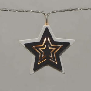 Natural Materials Round Wooden Star LED String Light