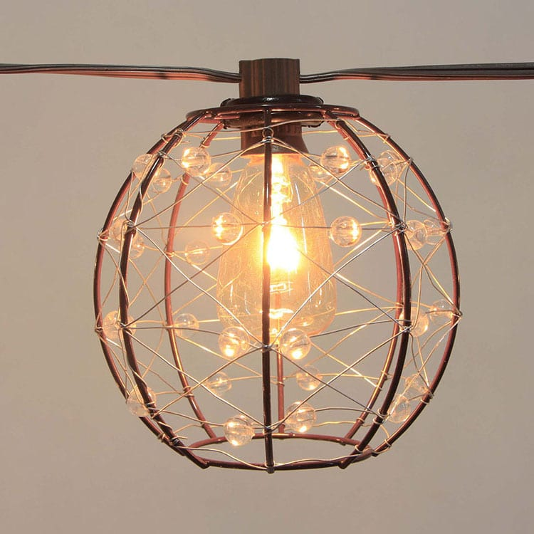 Prepainted Aluminum Roll Holiday String Light - Cafe SL- Wire Cage Shades MYHH93108 – Zhongxin