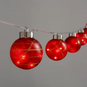Plastic Red G65 Bulb Outdoor String Light