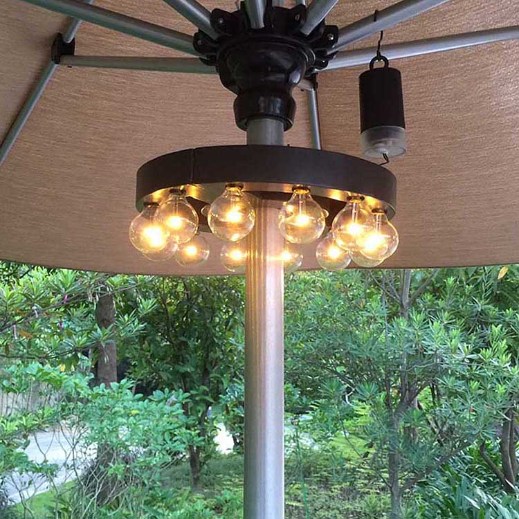 Aluminum Steel Led Umbrella String Lights - Clamp-On LED umbrella Lights  MYHH93026-A – Zhongxin Featured Image
