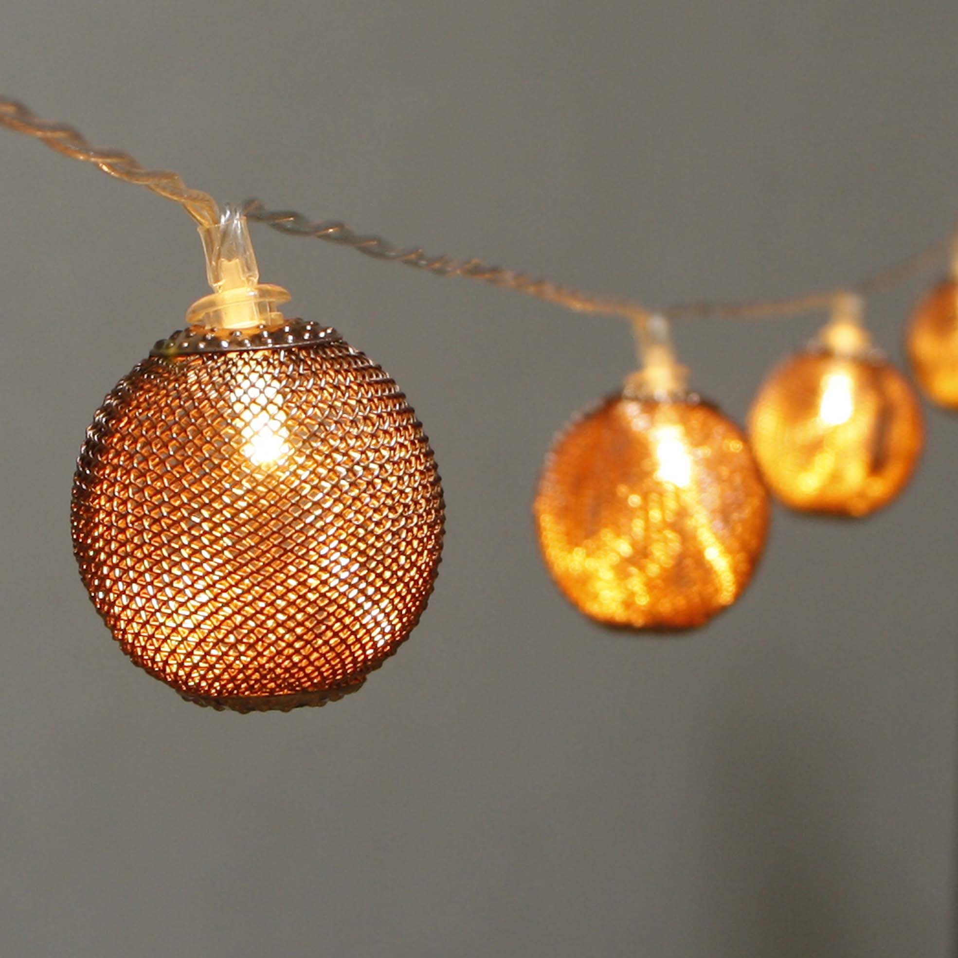 Color Coated Aluminum Steel Led Patio String Lights - Mesh Covers  MYHH02809-BO(B) – Zhongxin