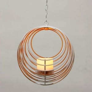 Outdoor Umbrella Dangler Metal Wire Candle Holder