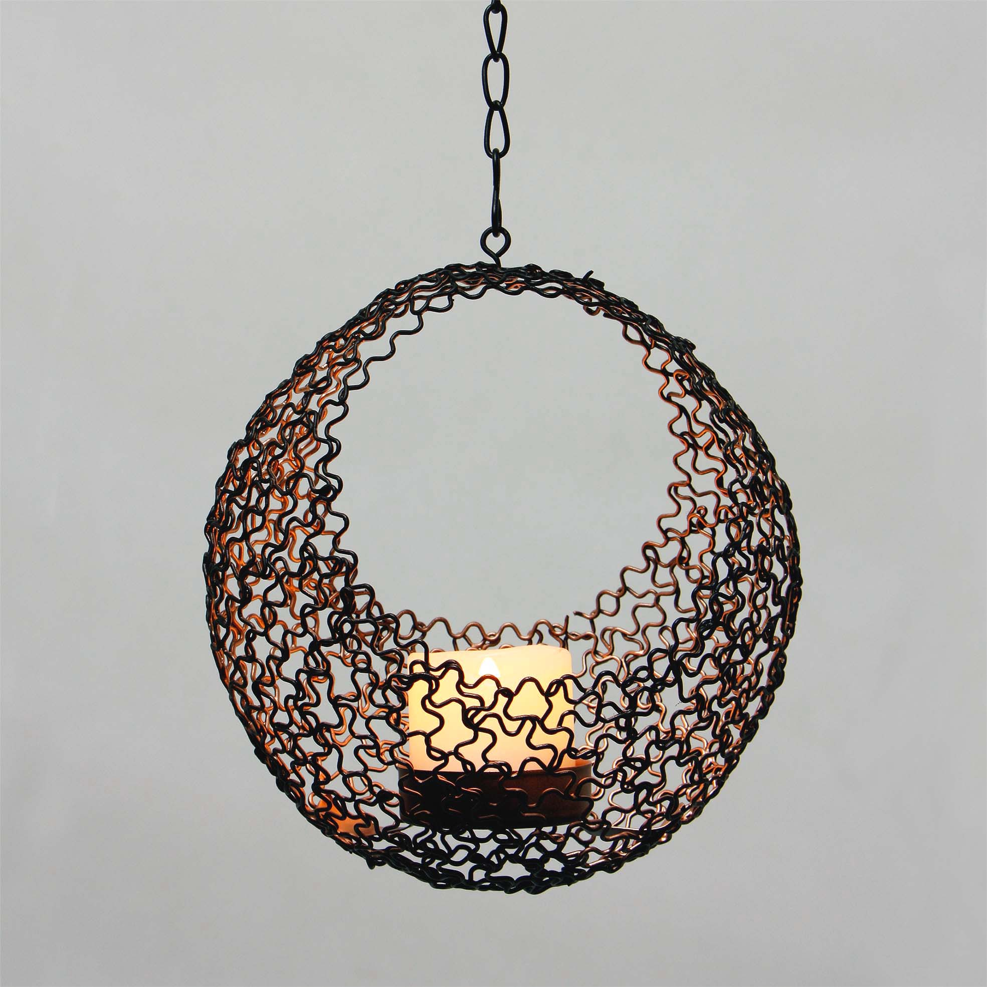 Solar Umbrella Dangler Metal Wire Candle Holder Featured Image