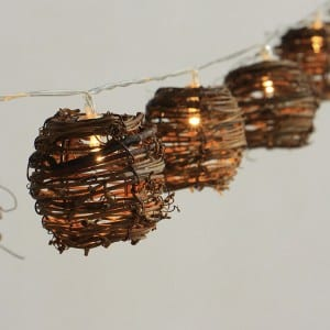 Natural Material Covers String Lights KF02342BO